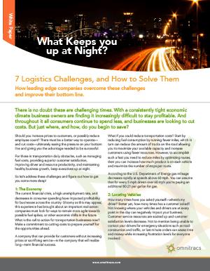 7 Logistics Challenges