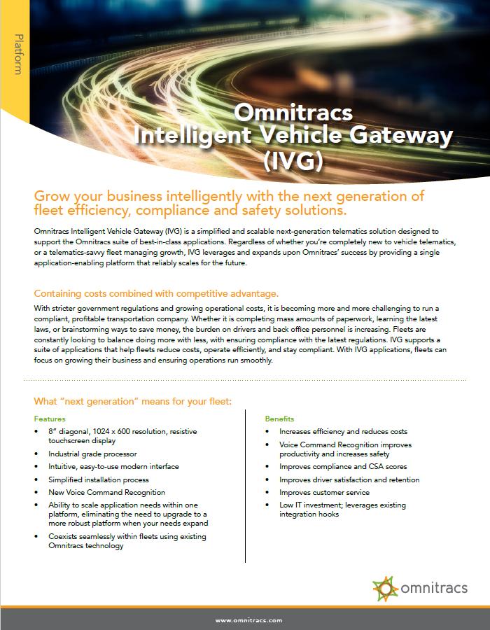 Omnitracs IVG