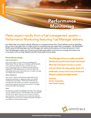Performance Monitoring Brochure