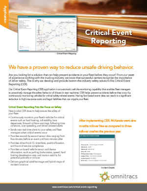 Critical Event Reporting Brochure