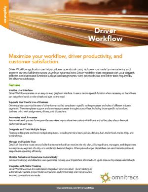 Driver Workflow Brochure