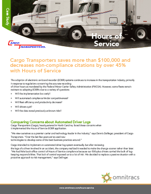 Hours Of Service Cargo Transporters Case Study
