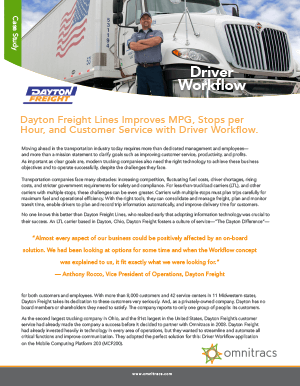 Driver Workflow Dayton Freight Lines Case Study