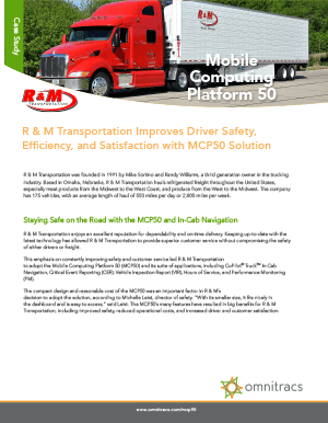 MCP50 RM Transportation Case Study