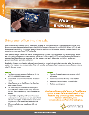 Web Browsing Brochure
