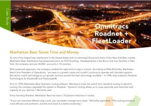 Beer Distributor Fleet Routing Case Study