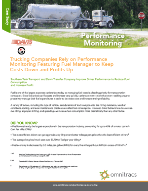 Performance Monitoring - Davis and Southern Case Study
