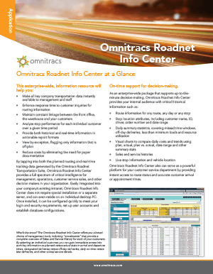 RoadNet Info Center Brochure