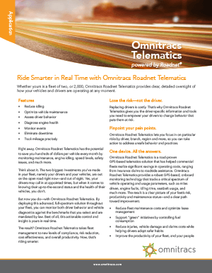 Roadnet Telematics Brochure