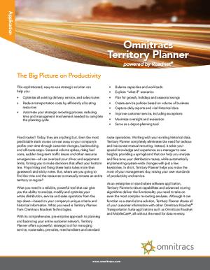 Roadnet Territory Planner Brochure