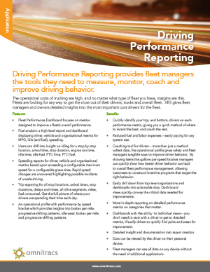 XRS Driver Performance Reporting Brochure