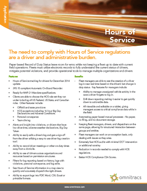 XRS Hours Of Service Brochure