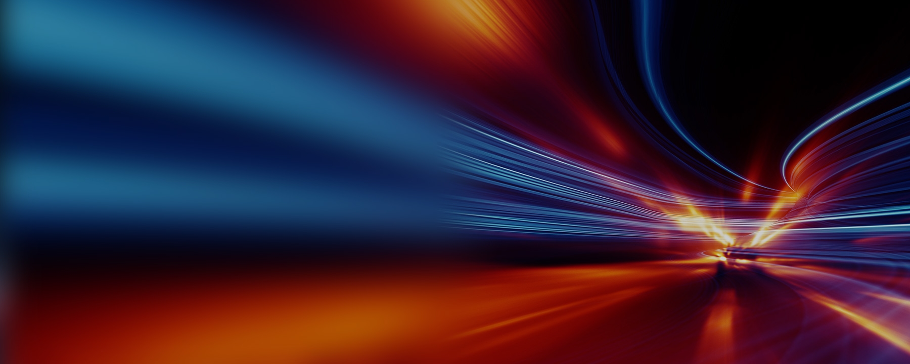 Blue and red motion blur