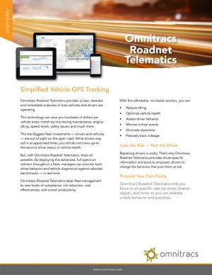 thumbnail image for roadnet telematics brochure