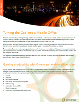 thumbnail image for turning the cab into a mobile office white paper