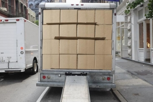 Image of truck full of boxes