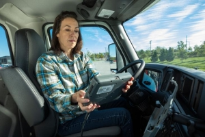 Image of woman in truck