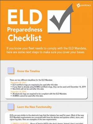 thumbnail image for ELD preparedness checklist infographic