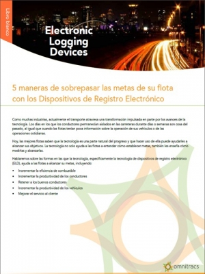 5 ways to exceed your fleet's goals with ELDs white paper thumb spanish