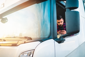 Truck Driver and Technology