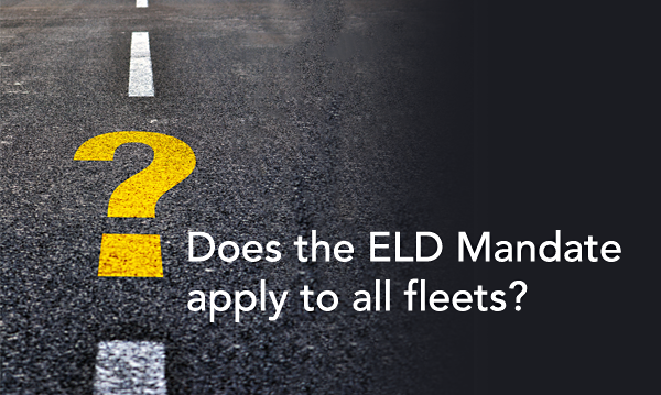 does the eld mandate apple to all fleets question