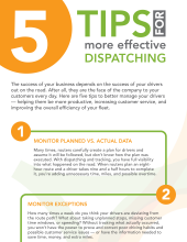 5 Tips For More Effective Dispatching