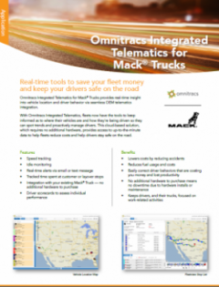 thumbnail image for Omnitracs Integrated Telematics for Mack® Trucks brochure