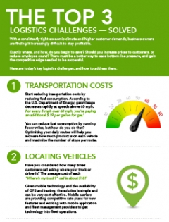 thumbnail image for top 3 logistics challenges solved infographic