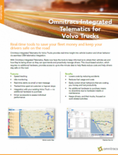 thumbnail image for Omnitracs Integrated Telematics for Volvo Trucks brochure