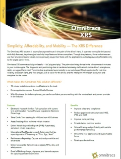 thumbnail image for the xrs brochure
