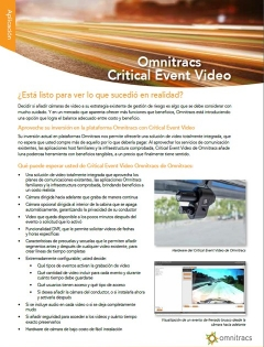 critical event video brochure thumb spanish