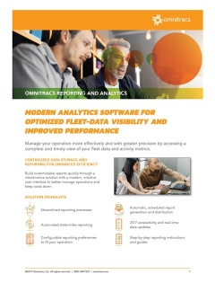 omnitracs reporting and analytics brochure thumbnail image